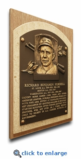 Rick Ferrell Baseball Hall of Fame Plaque on Canvas - Boston Red Sox