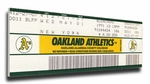 Rickey Henderson 939 Stolen Base Record Canvas Mega Ticket - Oakland A's