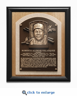Roberto Alomar Baseball Hall of Fame Plaque Framed Print - Toronto Blue Jays