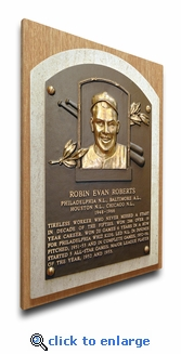 Robin Roberts Baseball Hall of Fame Plaque on Canvas - Philadelphia Phillies