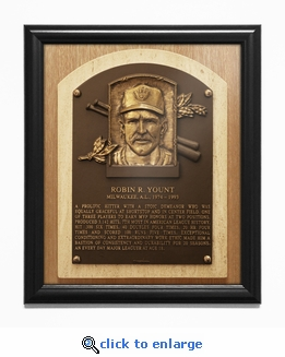 Robin Yount Baseball Hall of Fame Plaque Framed Print - Milwaukee Brewers