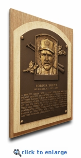Robin Yount Baseball Hall of Fame Plaque on Canvas - Milwaukee Brewers