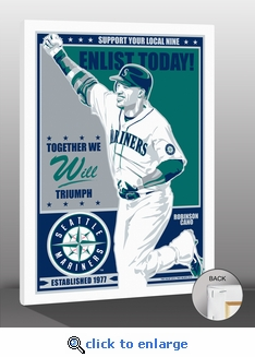Robinson Cano Sports Propaganda Canvas Print - Mariners