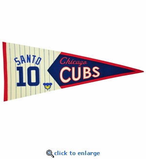Ron Santo Legends Wool Pennant 13x 32 - Chicago Cubs