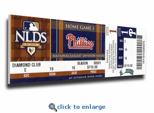 Roy Halladay 2010 NLDS Game 1 No-Hitter Canvas Mega Ticket - Philadelphia Phillies