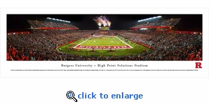 Rutgers Scarlet Knights Football - Panoramic Photo (13.5 x 40)
