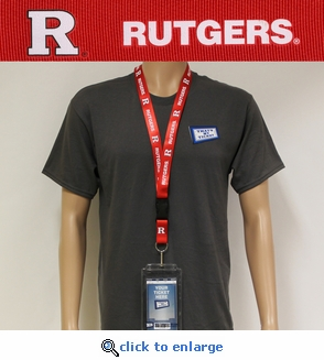 Rutgers Scarlet Knights NCAA Lanyard Key Chain and Ticket Holder