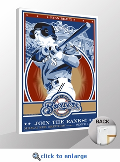 Ryan Braun Sports Propaganda Canvas Print - Brewers