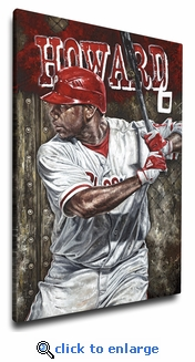 Ryan Howard - Blast Off - 12x18 Art Reproduction on Canvas by Justyn Farano - Phillies