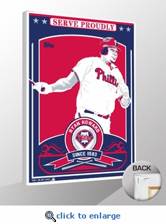 Ryan Howard Topps Sports Propaganda Canvas Print - Phillies