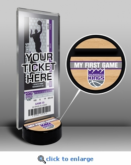 Sacramento Kings My First Game Ticket Display Stand