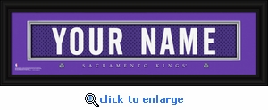 Sacramento Kings Personalized Stitched Jersey Nameplate Framed Print