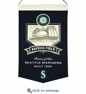 Safeco Field Wool Banner (20 x 15) - Seattle Mariners