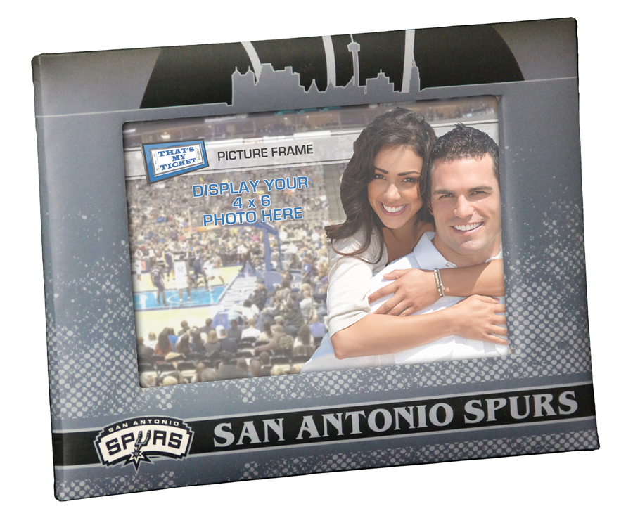 San antonio spurs personalized canvas birth announcement baby gift san antonio spurs padded front 4x6 picture frame negle Gallery