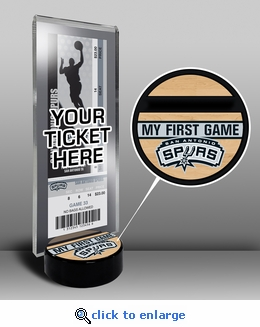 San Antonio Spurs My First Game Ticket Display Stand