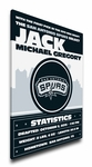 San Antonio Spurs Personalized Canvas Birth Announcement - Baby Gift