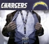 Los Angeles Chargers NFL Lanyard Key Chain and Ticket Holder - Navy Blue