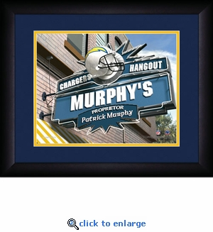 San Diego Chargers Personalized Sports Room / Pub Print