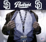 San Diego Padres MLB Lanyard Key Chain and Ticket Holder - Navy