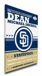 San Diego Padres Personalized Canvas Birth Announcement - Baby Gift