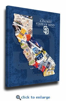 San Diego Padres State of Mind Canvas Print - California