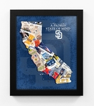 San Diego Padres State of Mind Framed Print - California