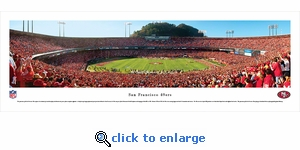 San Francisco 49ers - 50 Yard Line - Panoramic Photo (13.5 x 40)