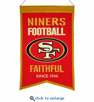 San Francisco 49ers Franchise Wool Banner (14 x 22)