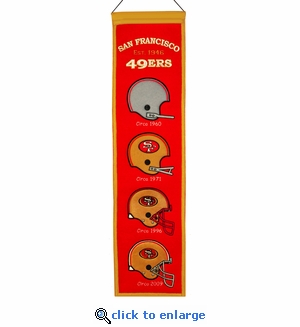 San Francisco 49ers Heritage Wool Banner (8 x 32)