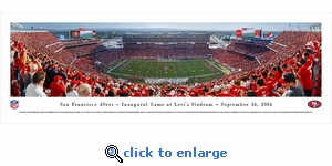 San Francisco 49ers - Inaugural Game at Levi's Stadium - Panoramic Photo (13.5 x 40)