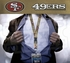 San Francisco 49ers NFL Lanyard Key Chain and Ticket Holder - Gold