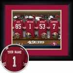 San Francisco 49ers Personalized Locker Room Print