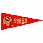 San Francisco 49ers Throwback Wool Pennant (13 x 32)