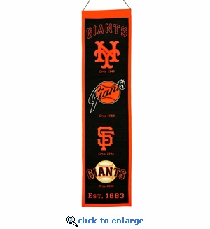 San Francisco Giants Heritage Wool Banner (8 x 32)