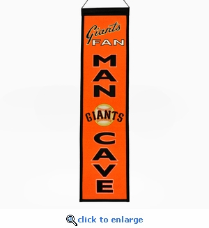 San Francisco Giants Man Cave Wool Banner (8 x 32)