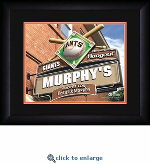 San Francisco Giants Personalized Sports Room / Pub Print