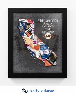 San Francisco Giants Personalized State of Mind Framed Print - California