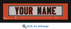 San Francisco Giants Personalized Stitched Jersey Nameplate Framed Print