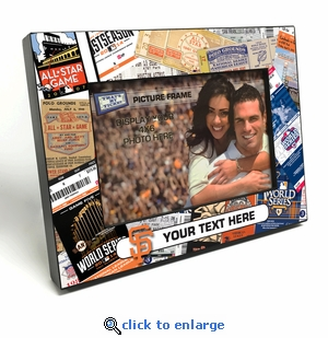 San Francisco Giants Personalized Ticket Collage Black Wood Edge 4x6 inch Picture Frame