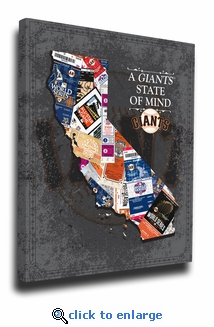 San Francisco Giants State of Mind Canvas Print - California