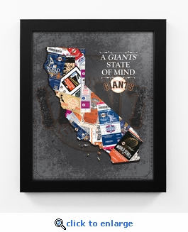 San Francisco Giants State of Mind Framed Print - California