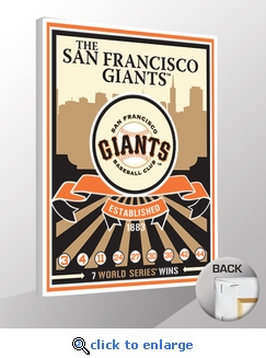 San Francisco Giants Team Logo Sports Propaganda Canvas Print
