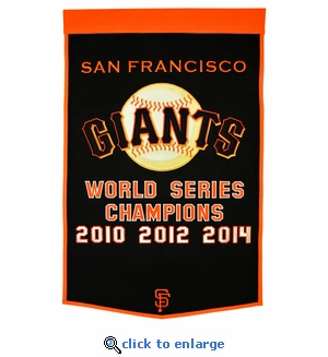San Francisco Giants World Series Dynasty Wool Banner (24 x 36)