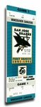San Jose Sharks Inaugural Game Canvas Mega Ticket