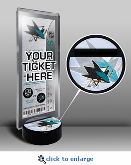 San Jose Sharks Hockey Puck Ticket Display Stand