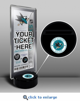 San Jose Sharks My First Game Hockey Puck Ticket Stand