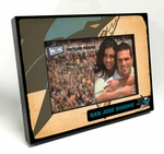 San Jose Sharks Vintage Style Black Wood Edge 4x6 inch Picture Frame