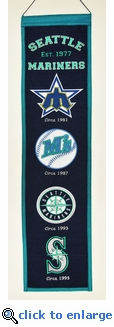 Seattle Mariners Heritage Wool Banner (8 x 32)