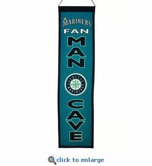 Seattle Mariners Man Cave Wool Banner (8 x 32)