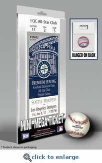 Seattle Mariners No Hitter Mini-Mega Ticket - Jun 8, 2012